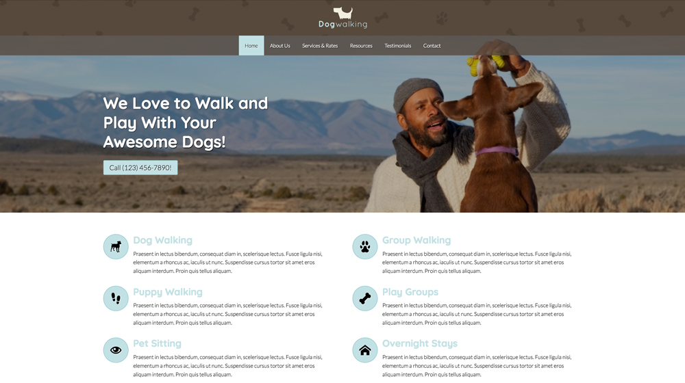 desktop screenshot Pet Care WordPress Theme