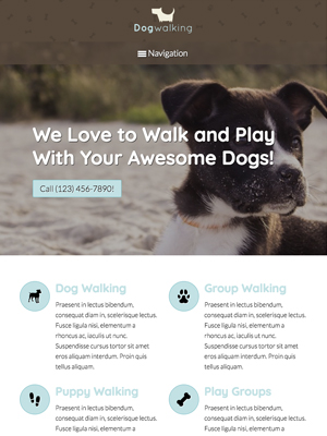 tablet screenshot Pet Care WordPress Theme