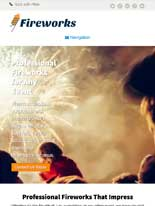 tablet screenshot Fireworks WordPress Theme
