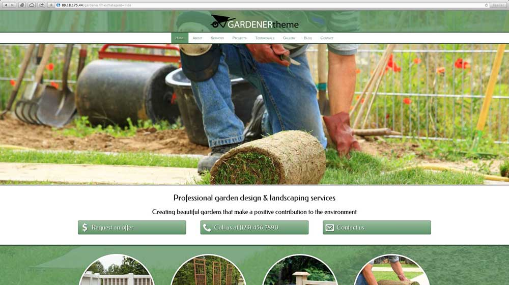 desktop screenshot Gardener WordPress Theme