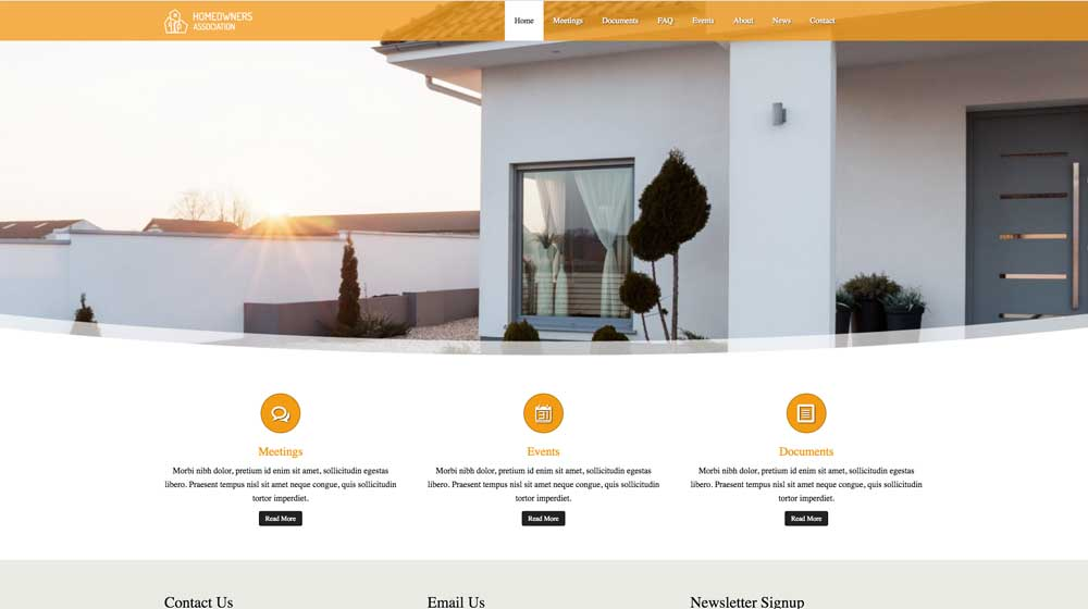 desktop screenshot Homeowners Association WordPress Theme
