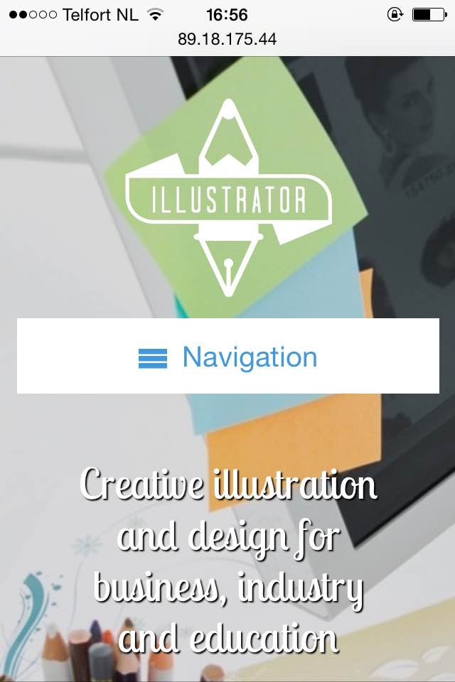 mobile phone screenshot Illustrator WordPress Theme