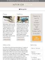 tablet screenshot Interior Design WordPress Theme