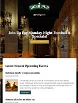 tablet screenshot Irish Pub WordPress Theme