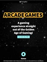 tablet screenshot Arcade Games WordPress Theme