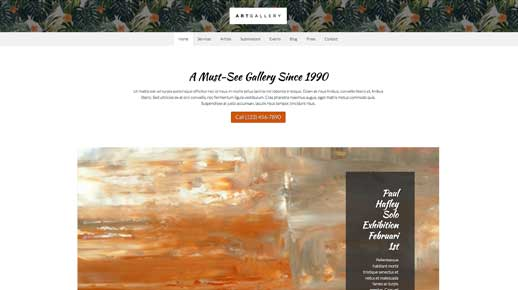 desktop screenshot Art Gallery WordPress Theme