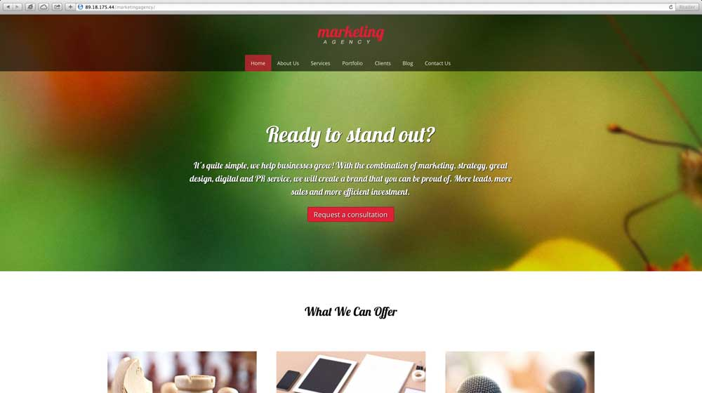 desktop screenshot Marketing Agency WordPress Theme