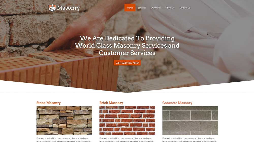 desktop screenshot Masonry WordPress Theme
