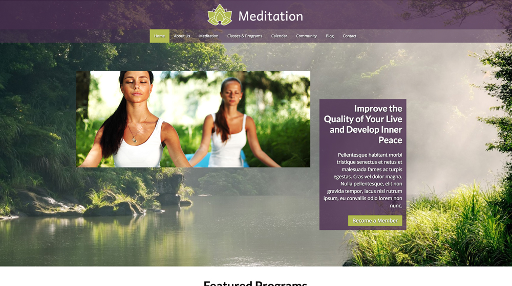 desktop screenshot Ayurveda WordPress Theme