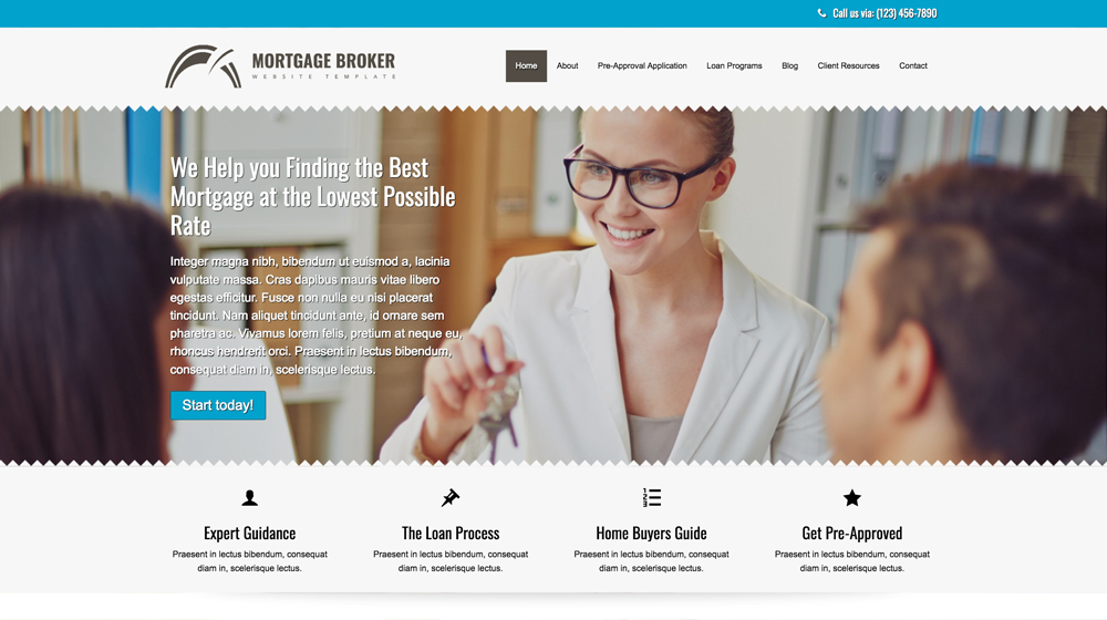 desktop screenshot Loan Company WordPress Theme