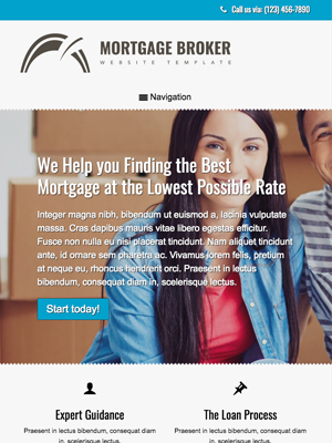 tablet screenshot Loan Company WordPress Theme