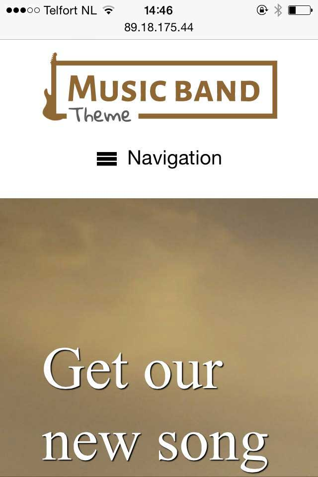 mobile phone screenshot Music Band WordPress Theme