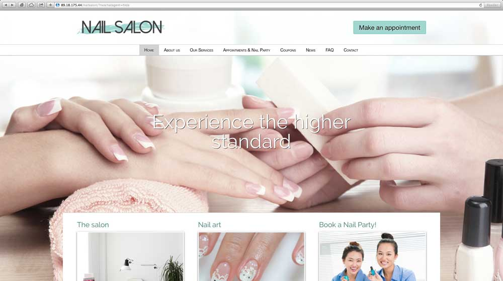 desktop screenshot Nail Salon WordPress Theme