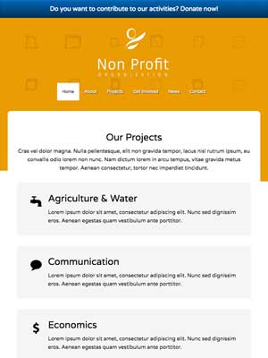 tablet screenshot Non-profit WordPress Theme