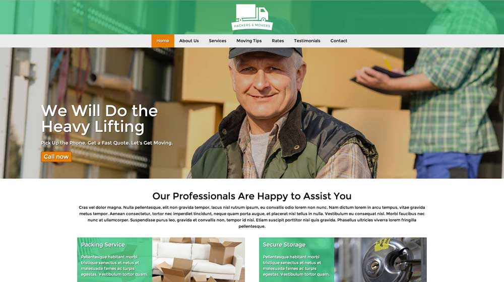desktop screenshot Packers And Movers WordPress Theme