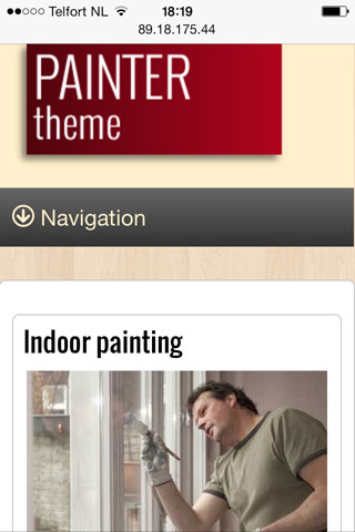 mobile phone screenshot Painter WordPress Theme