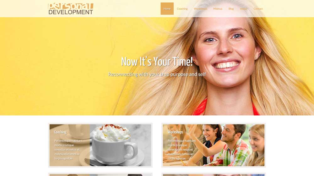 desktop screenshot Personal Development WordPress Theme