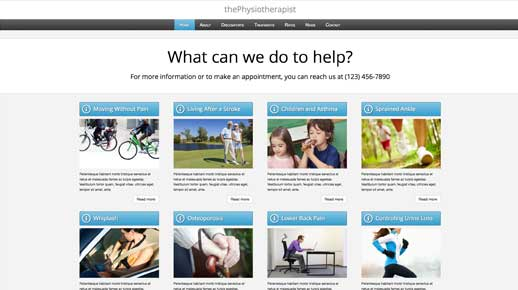 desktop screenshot Physiotherapist WordPress Theme