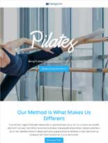 tablet screenshot Pilates WordPress Theme