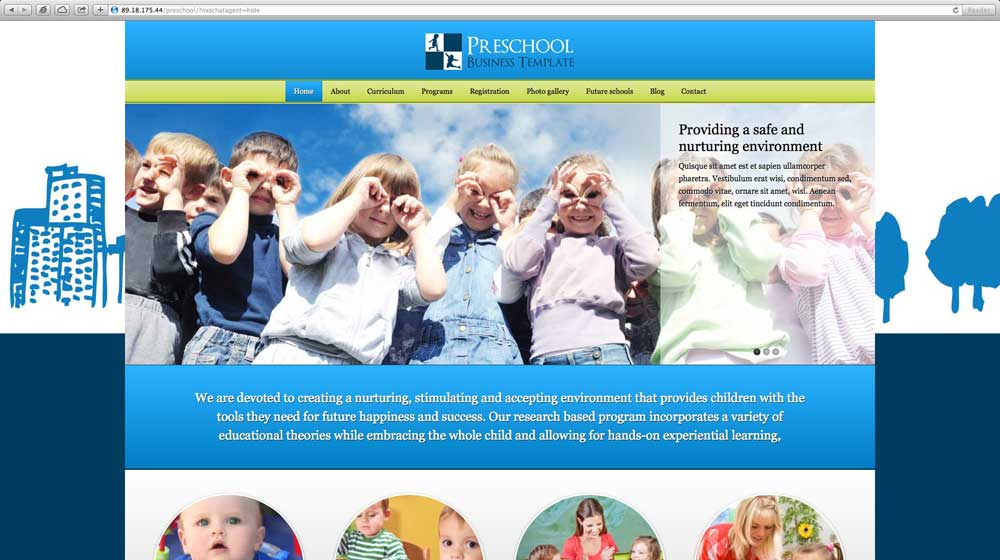 desktop screenshot Preschool WordPress Theme