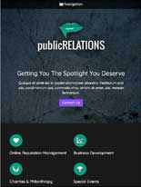 tablet screenshot Public Relations WordPress Theme
