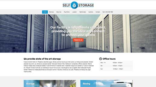 desktop screenshot Self Storage WordPress Theme