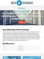 tablet screenshot Self Storage WordPress Theme