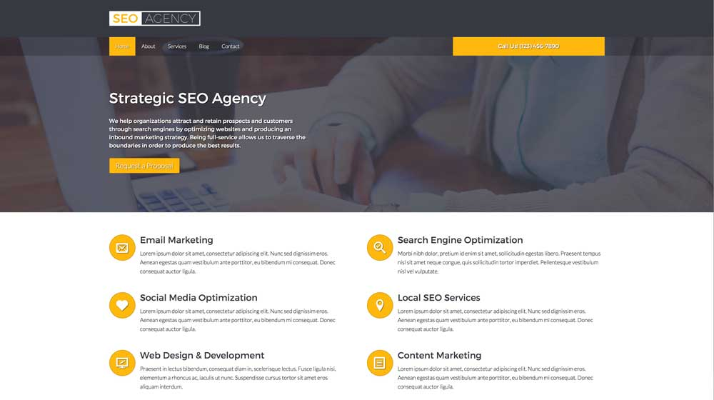 desktop screenshot SEO Agency WordPress Theme