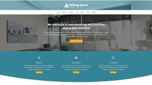 desktop screenshot Sliding Door WordPress Theme