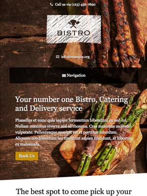 tablet screenshot Bistro WordPress Theme