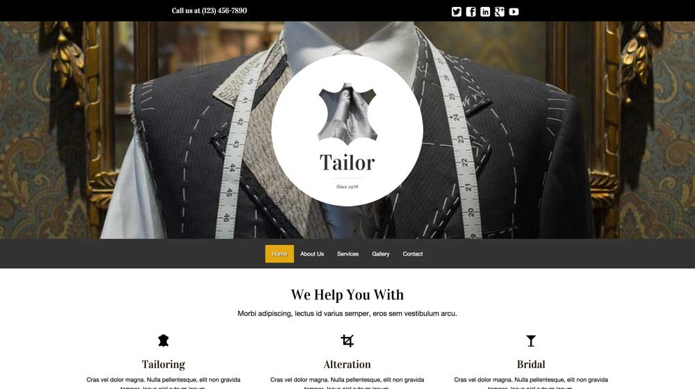 desktop screenshot Tailor WordPress Theme
