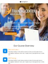 tablet screenshot Training Center WordPress Theme