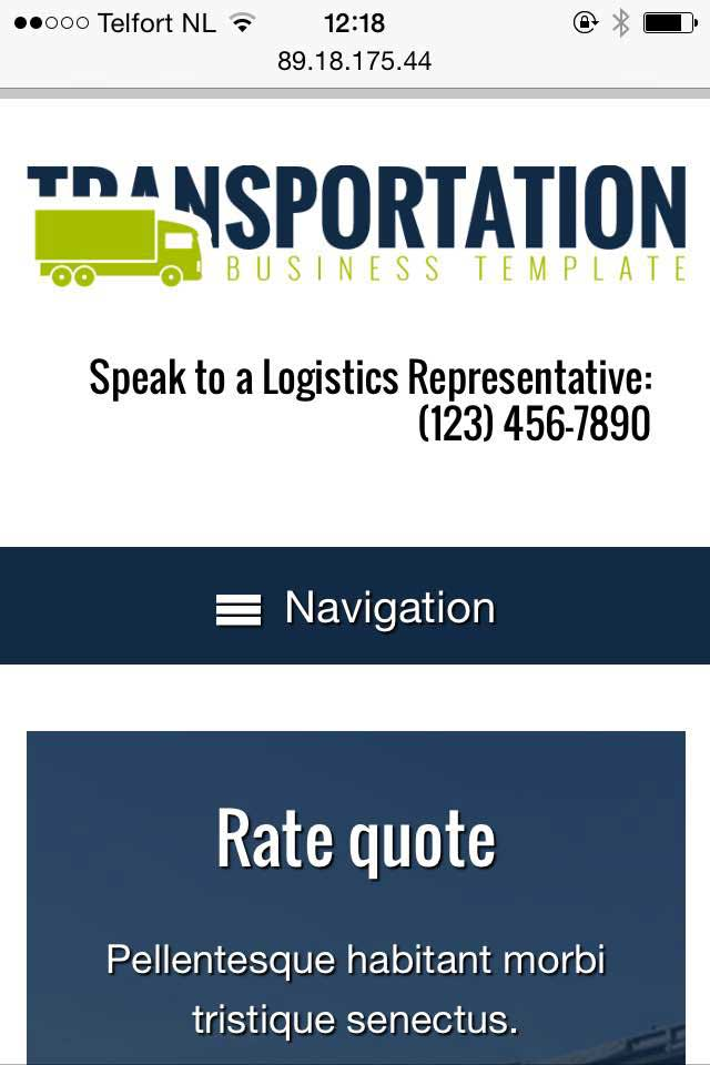 mobile phone screenshot Transportation WordPress Theme