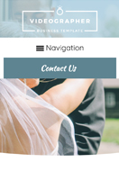 mobile phone screenshot Videographer WordPress Theme