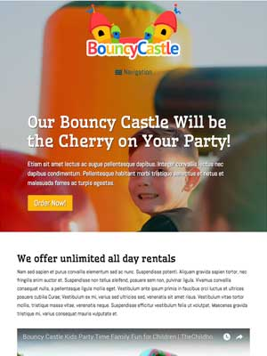 tablet screenshot Bouncy Castle WordPress Theme
