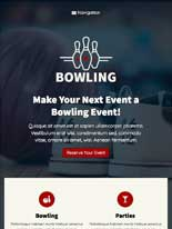 tablet screenshot Bowling WordPress Theme