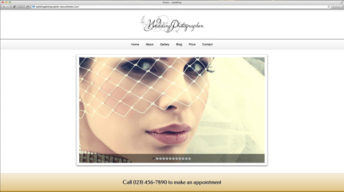desktop screenshot Wedding Photographer WordPress Theme