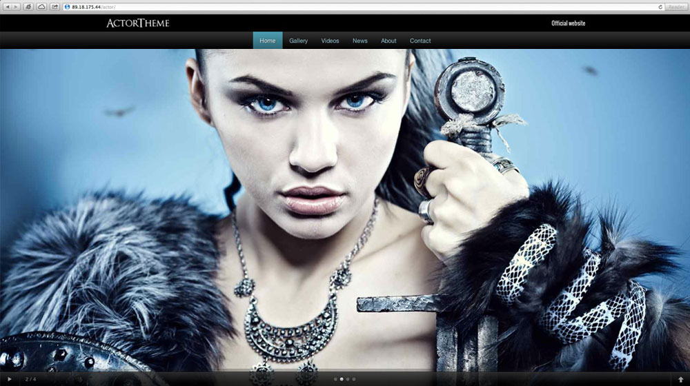 desktop screenshot Actor WordPress Theme