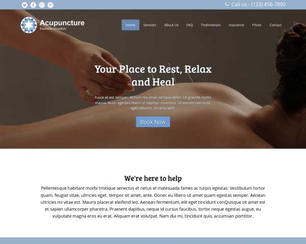 Acupuncture WordPress Theme thumbnail