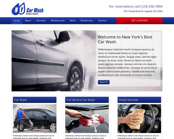 Car Wash WordPress Theme thumbnail