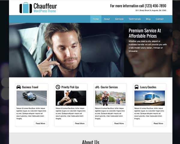 Chauffeur WordPress Theme thumbnail