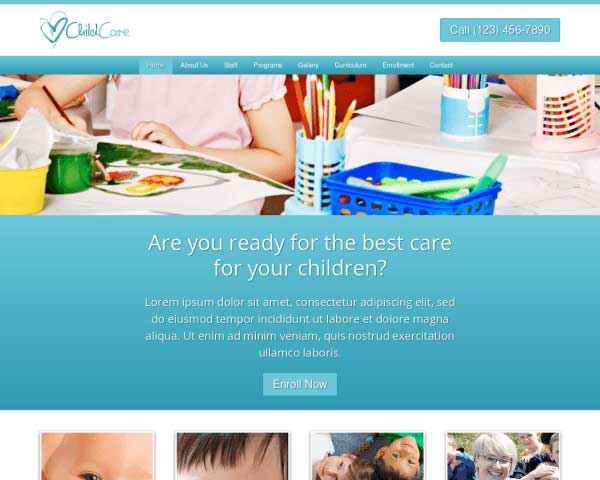 Child Care WordPress Theme thumbnail