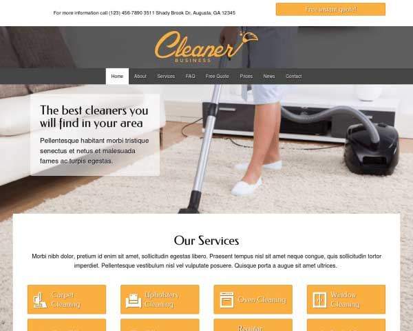Cleaner Business WordPress Theme thumbnail