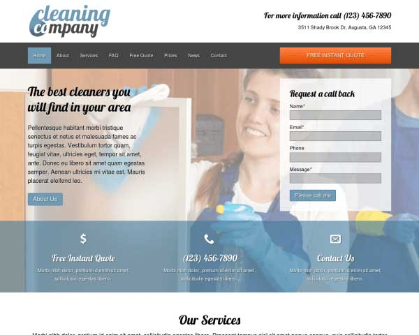 Cleaning Company WordPress Theme thumbnail