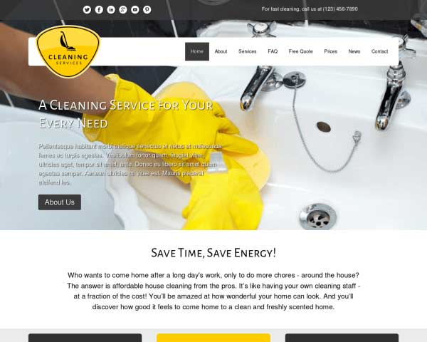 Cleaning Services Wordpress Theme Premium Template For Cleaning