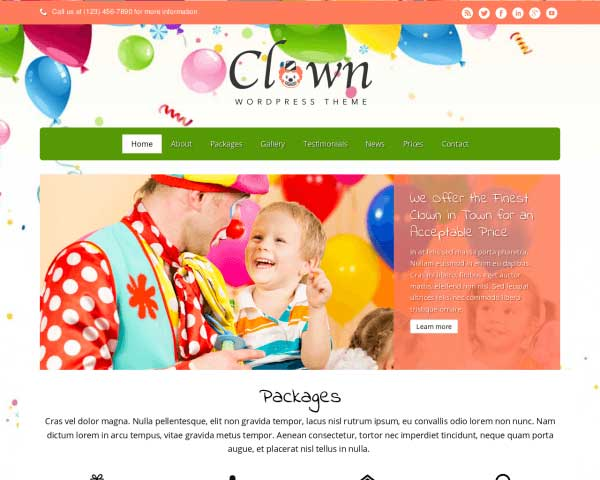 Clown WordPress Theme thumbnail