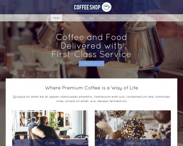 Cafe WordPress Theme thumbnail