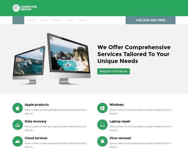 Computer Reparatie WordPress Theme thumbnail