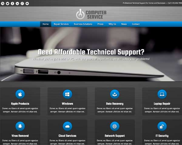 Computer Service WordPress Theme thumbnail