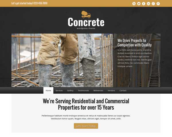 Concrete WordPress Theme thumbnail